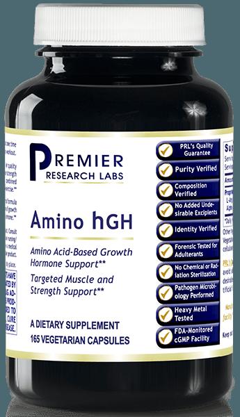 Amino HGH 500 Mg - 105 Vegetarian Capsules - Premier ...